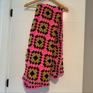 Bright Patterned Afghan Blanket